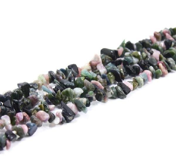 Tira de chips de piedra de turmalina multicolor (1 unidad)