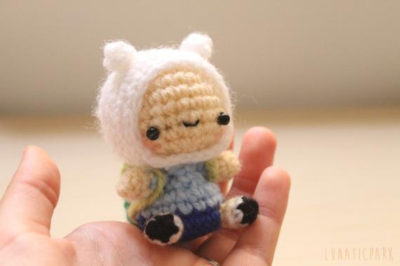 Chibi finn amigurumi adventure time inspired character