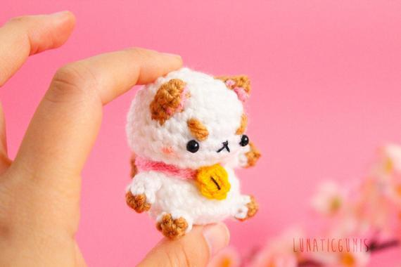 Chibi puppycat amigurumi - character from bee and puppycat -