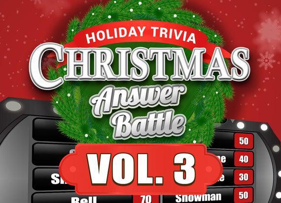 Christmas answer battle vol. 3 with scoreboard - trivia