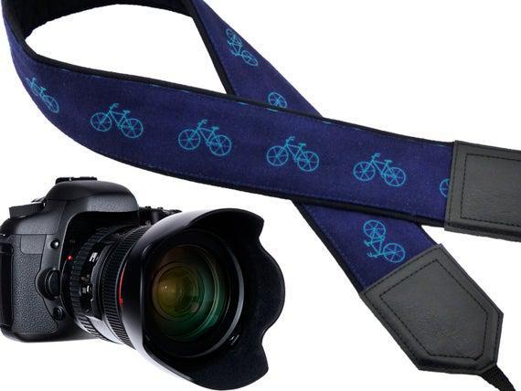 Correa de cámara personalizada con bicicletas correa de