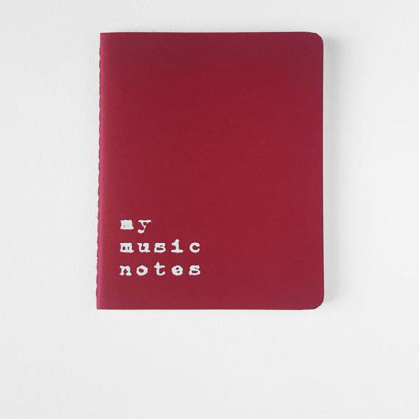 Cuaderno de música - red moleskine® portátil. para todos