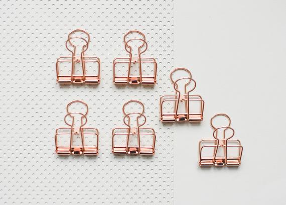 Desde 7,00 eur: 6 clip de cobre, clip plegable de oro rosa,