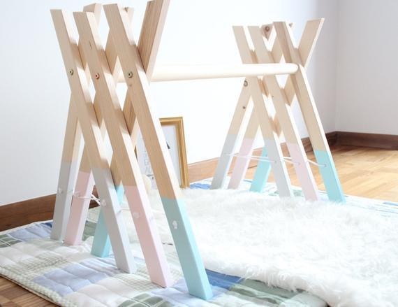 Gimnasio de madera para bebés / decoración elegante de la