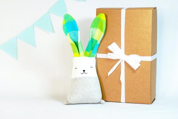 Juguete de conejo relleno gris, juguete animal de conejo