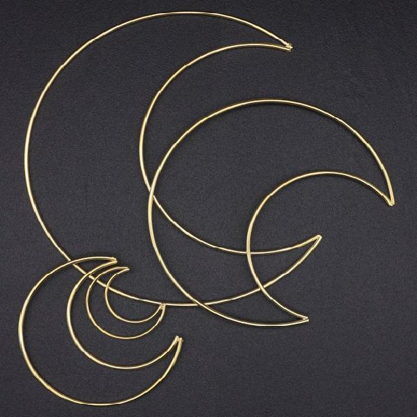 Oro luna de metal, 5 cm/10 cm/15 cm/20 cm, anillos