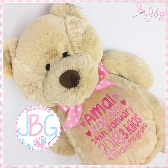 Oso de peluche personalizado, osos bordados, regalo