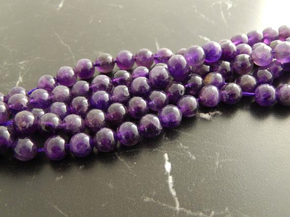 Perlas de amatista grado a,4.6.8.10mm