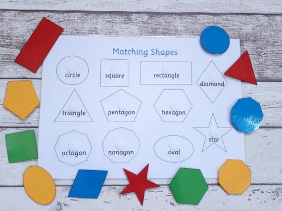 Recursos de enseñanza que coinciden con la forma, juego de