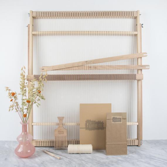 Xxl weaving loom kit - 19 pulgadas / 48 cm de ancho - kit de