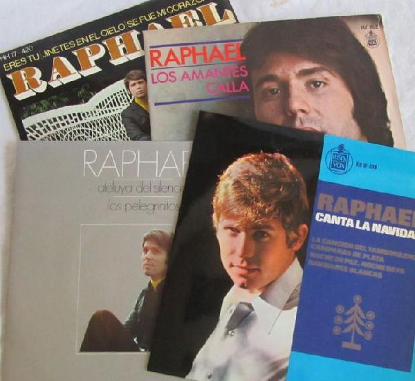 4 singles de raphael, ver títulos en fotos adicionales