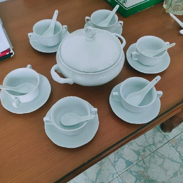 6 pack sopa porcelana