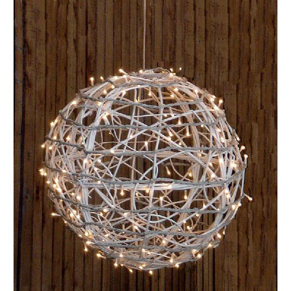 Bola blanca con luces led r5349
