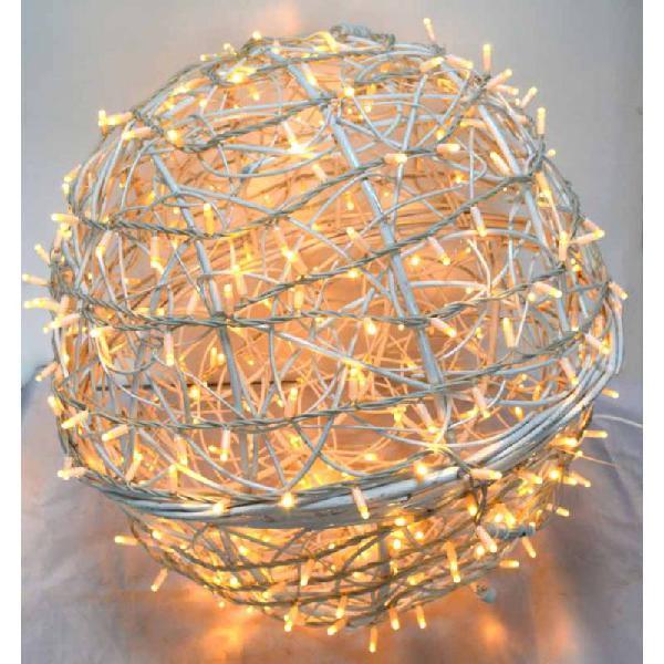 Bola blanco con luz led r8210