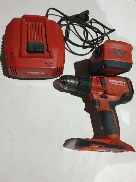 Conjunto taladro atornilladora hilti sf 6h a-22