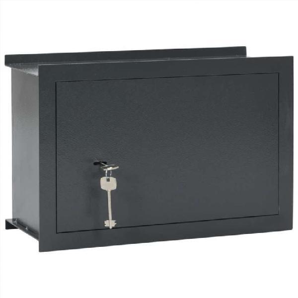 Caja fuerte para pared gris oscuro 49x19,5x32 cm