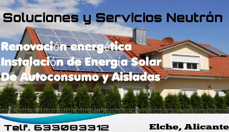 Energía solar de autoconsumo