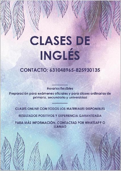 Idiomas: francés, inglés, español y asignaturas