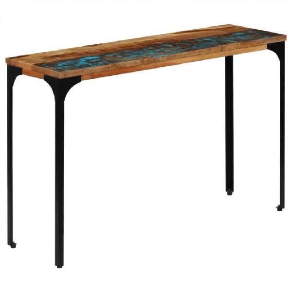 Mesa consola madera maciza reciclada 120x35x76 cm