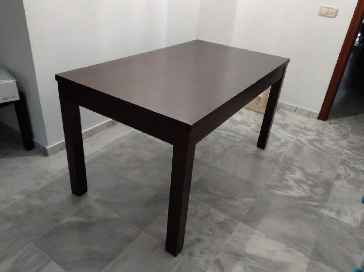 Mesa de comedor extensible, madera maciza