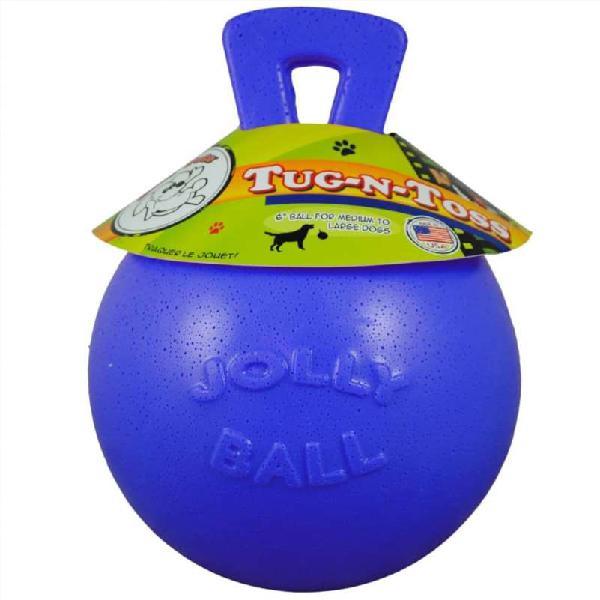 Pelota jolly ball tug-n-toss azul 20 cm
