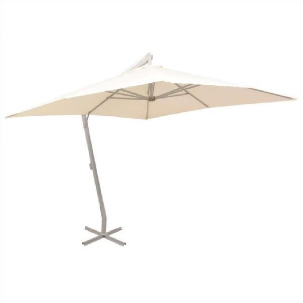 Sombrilla colgante con palo de aluminio 300x300 cm