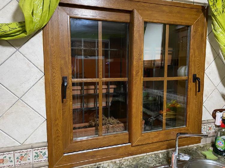 Ventana y puerta climalit pvc marrón