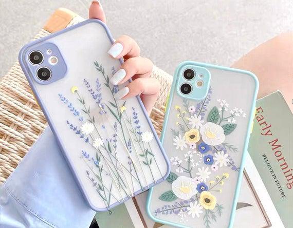 Bastante floral iphone 12 11 pro max caso iphone 12 mini
