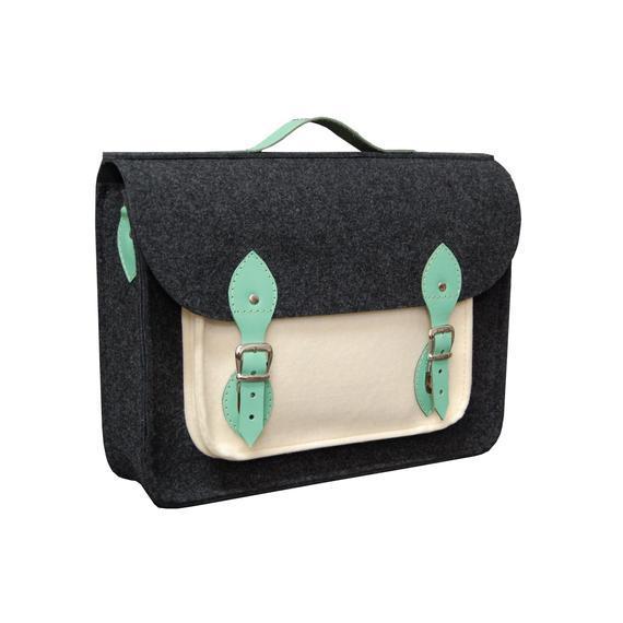 Bolso portátil, bolso portátil de fieltro con correas de
