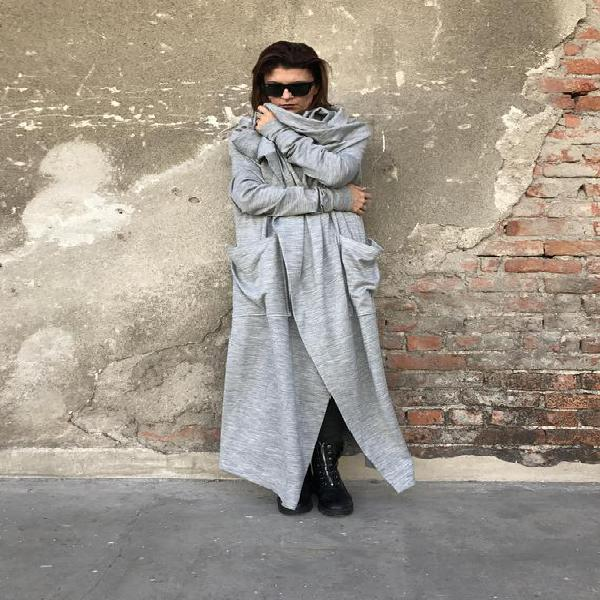 Plus tamaño cárdigan, wrap cardigan, mujeres abrigo largo,