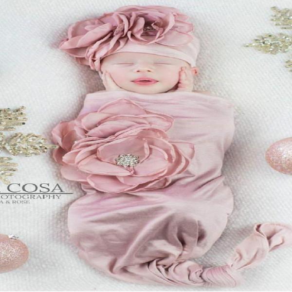 Recién nacido bebé niña rosa bebé saco mauve bebé