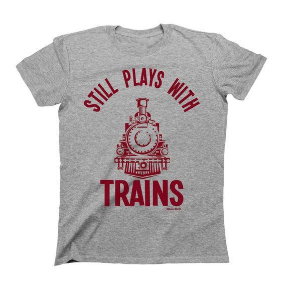 Todavía juega con los trenes - algodón orgánico -