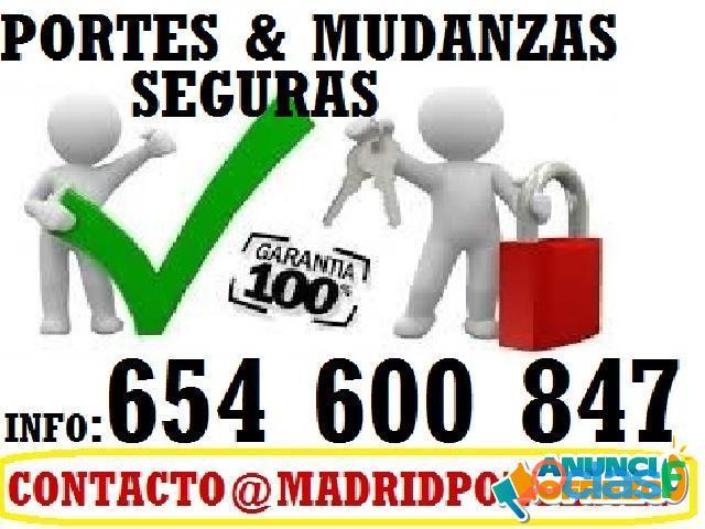 FLETES Y PORTES económicos en MADRID
