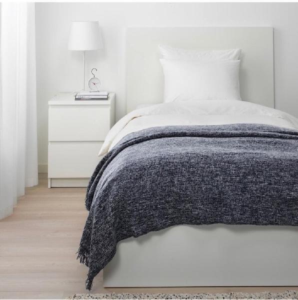 Manta plaid de cama color gris ikea ingrun