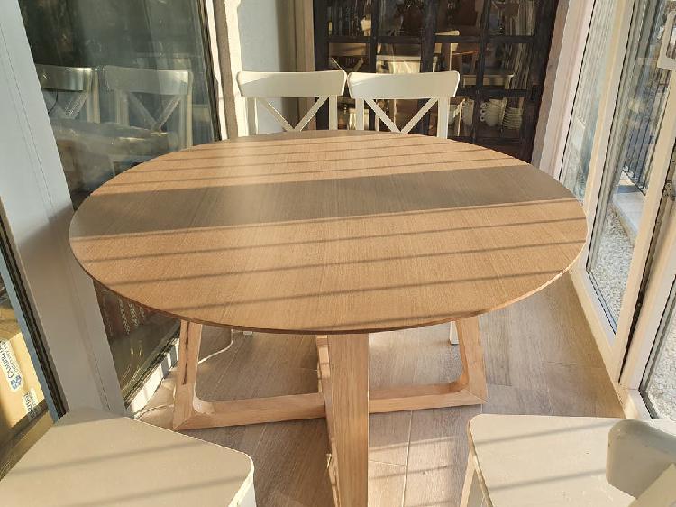 Mesa modelo raw redonda de kenay home.