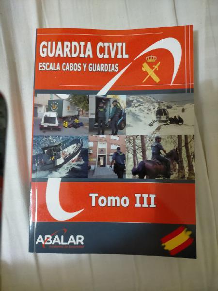 Temario, libros guardia civil