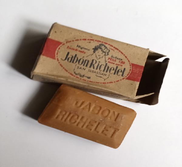 Jabón richelet años 30 pastilla de jabón en su caja de