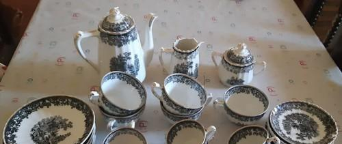 Juego de café de porcelana santa clara old england, le
