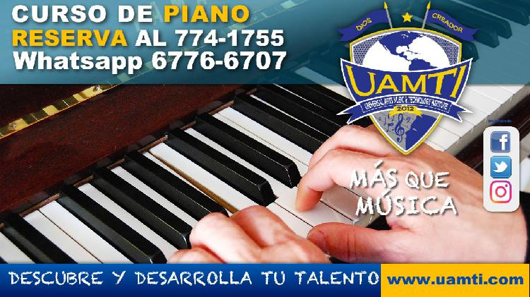 Reserva tu curso de piano en #uamti david chiriqui whatsapp