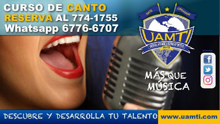 Reserva tu curso de canto en #uamti david chiriqui whatsapp