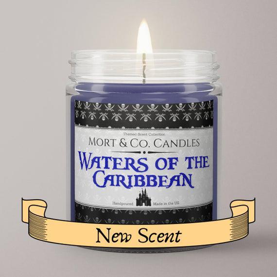 Aguas de la mezcla de soja caribbean vela perfumada /