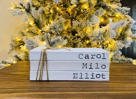 Christmas farmhouse - farmhouse stamped books - farmhouse
