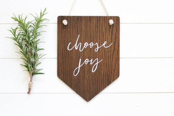 Elija alegría, estandarte de pared, arte de pared de