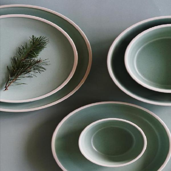 Matte ceramic plates   hand-finished ceramics   dinnerware  
