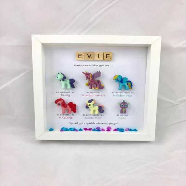 Personalizado mi pequeño pony caja especial marco