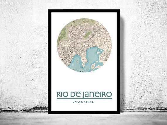 Rio de janeiro - cartel de la ciudad - impresión de cartel