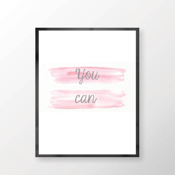 Usted puede imprimir pared inspiración - arte de la pared,