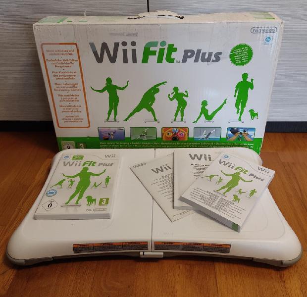 Balance board+caja+juego wii fit plus+instruccions