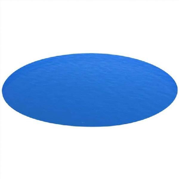 Cubierta redonda de pe de piscina, azul, 549 cm