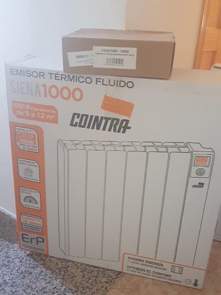 Emisor termico fluido cointra siena 1000w. 6 eleme